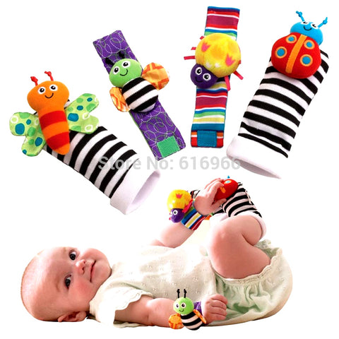 New 'Keep Busy' Baby Rattle Toy - Foot Socks & Wrist Bands