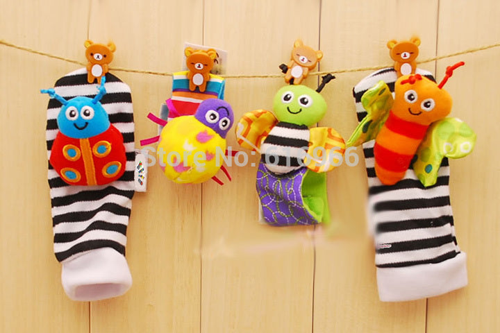 New Keep Busy Baby Rattle Toy Foot Socks Wrist Bands Brand