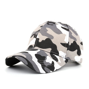 Snapback Men Casual Tactical Camouflage Cap - Black or Green - Adjustable Baseball Cap