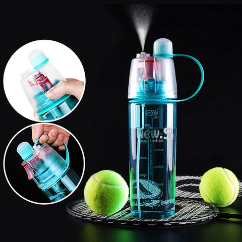 Dual-Use Water Bottle For Drinking & Spray Cooling