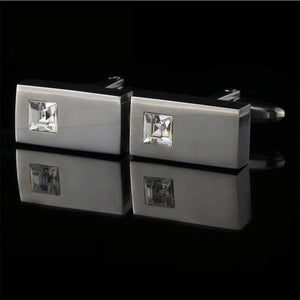 Cufflinks for Mens - Fashion Brand Cuff Links - High Quality Crystal