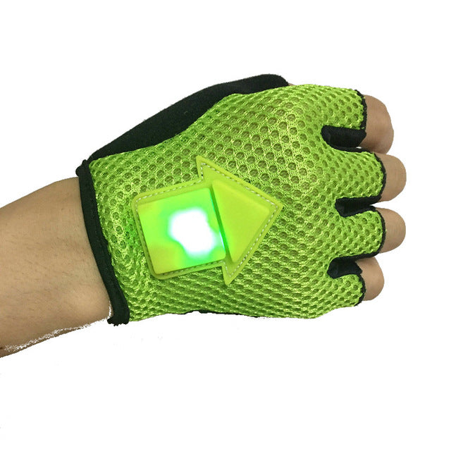 Cycling Gravity Sensor Turn Signal Gloves - Safety Warning Gloves