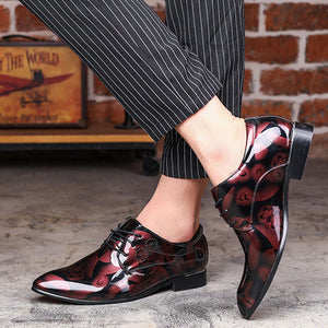 Men Party Shoes - Mens Leather Shoes - Mens Lace Up Shoes - Mens Classic British Dress Shoes
