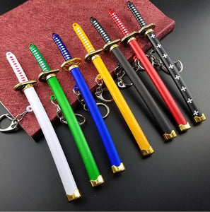 Anime Katana Knife Keychain With Toolholder Scabbard