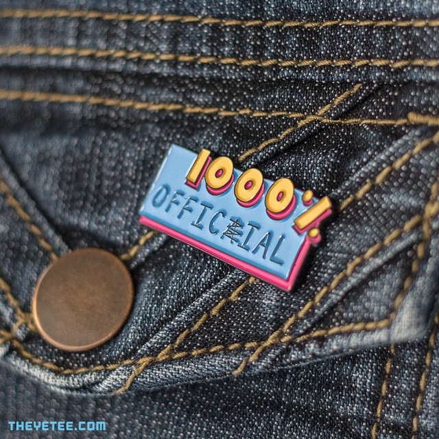 1000% Official Pin