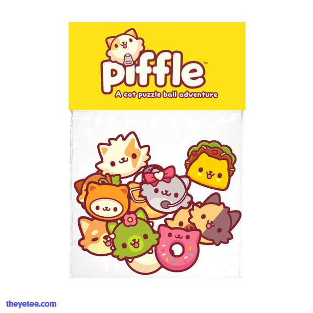 Piffle vinyl sticker 12 pack assorted piffleballs - Piffle Sticker Pack