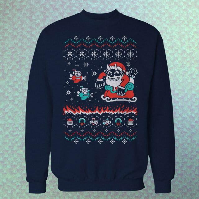 Tidings of Cuphead Sweater - Tidings of Cuphead Sweater