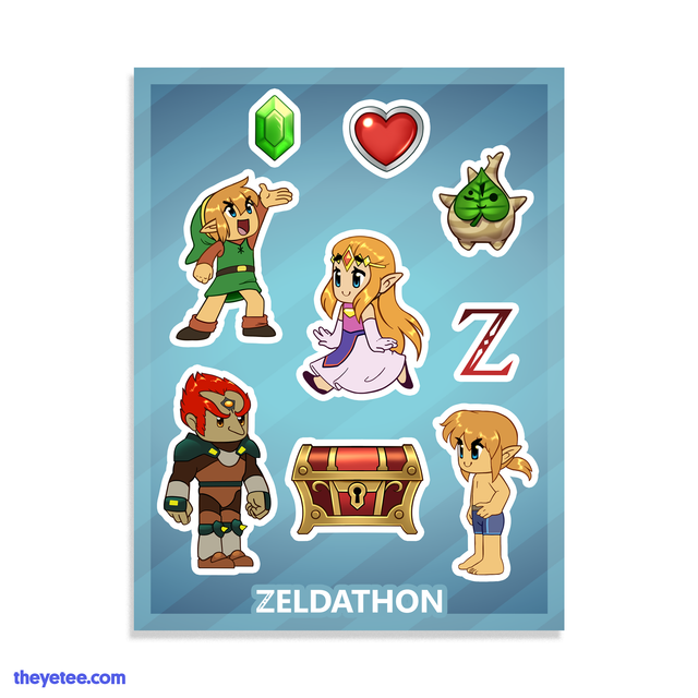 Zeldathon Sticker Sheet - Zeldathon Sticker Sheet