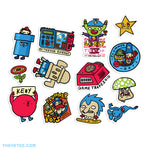 1000% Official Video Game Sticker Sheet - 1000% Official Video Game Sticker Sheet