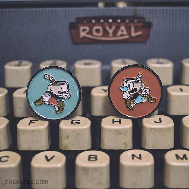 Cuphead and Mugman Pin Set