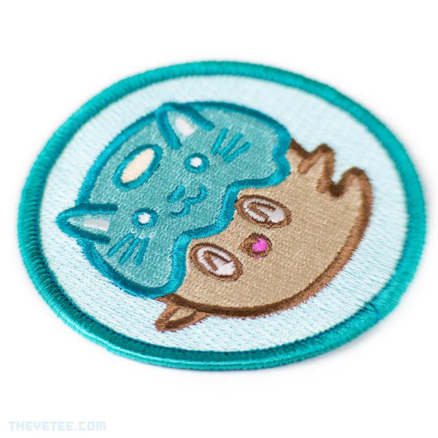 Donut Ghost Cat Patch