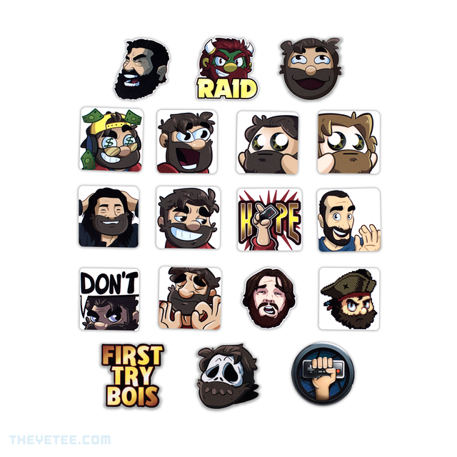 Completionist Emote Stickers