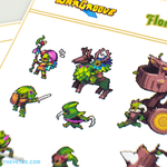 Floran Sticker Sheet - Floran Sticker Sheet
