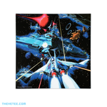 Insert with one side featuring original GRADIUS artwork from the Konami archive. - Gradius