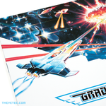 Angled close up of sleeve artwork depicting an intergalactic spacecraft firing.  - Gradius