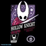 8-bit style Hornet Knight design on black background. - Hornet Knight Retro