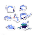 Knife Cat Sticker Sheet - Knife Cat Sticker Sheet