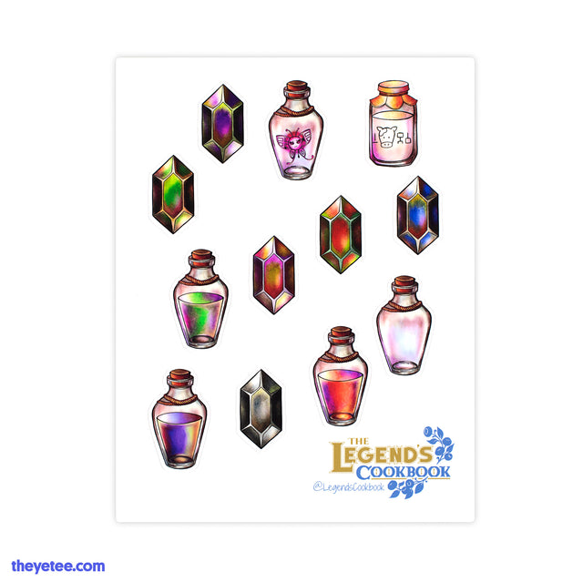 Legend's Cookbook Sticker Sheet - Legend's Cookbook Sticker Sheet