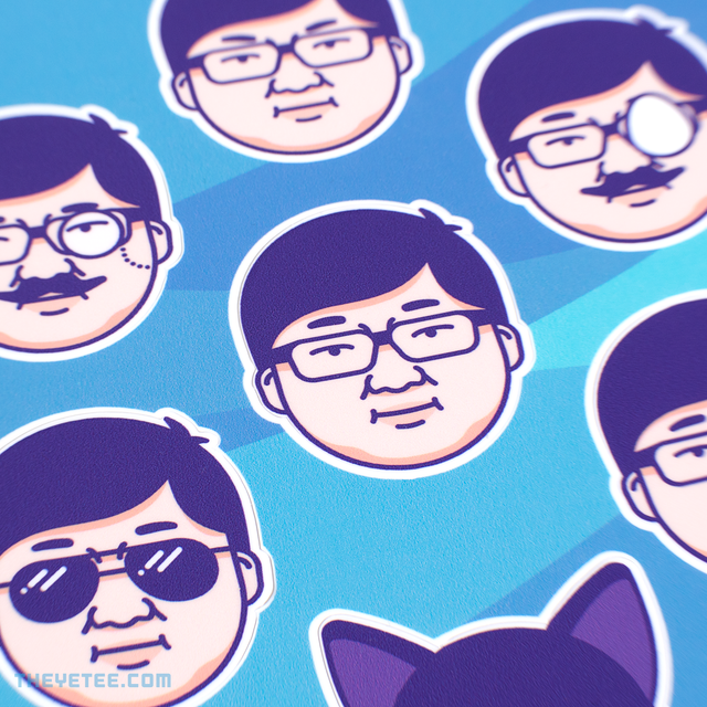 Many Sticker Faces