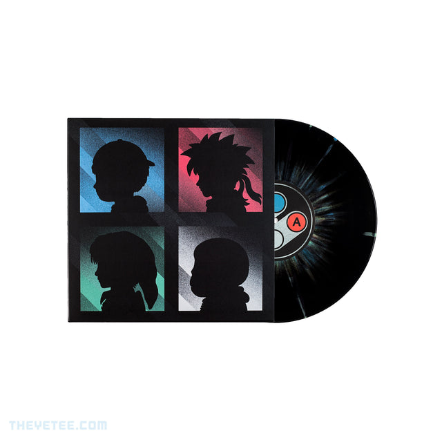 Vinyl cover of Timeline album shows 4 character silhouettes with vinyl half out of cover  - Timeline