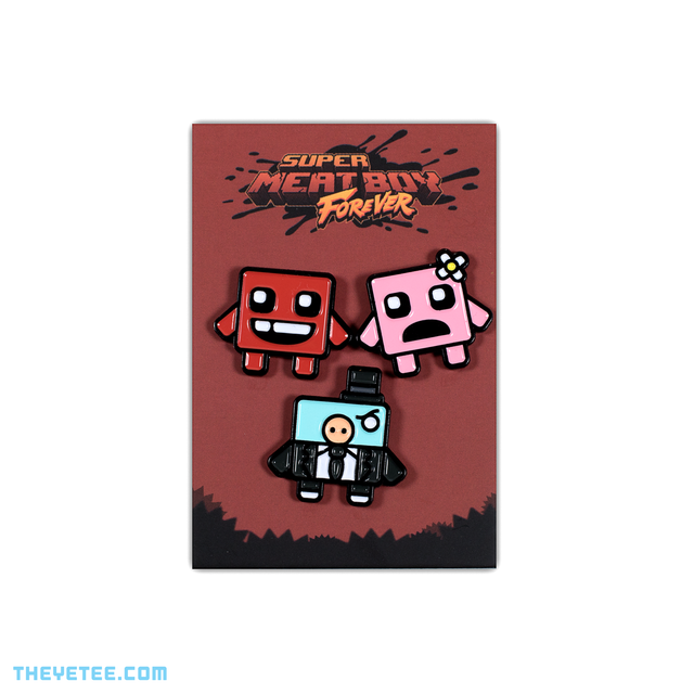 Meat Boy Family Fun Pin Set - Meat Boy Family Fun Pin Set