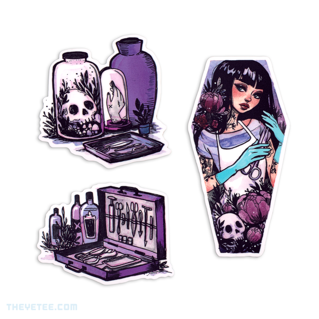 A Mortician's Tale Sticker Set | The Yetee