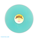 Pressed on 140G translucent sky blue vinyl with yellow to white ombre vinyl sticker. - Pocket Rumble Soundtrack