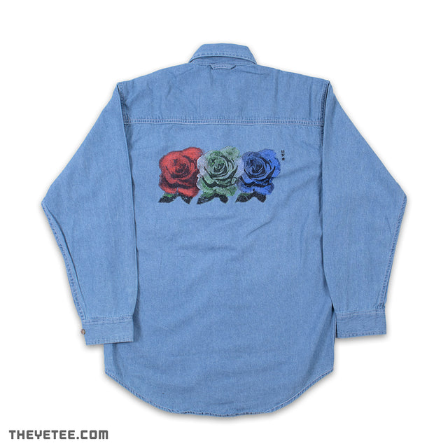 RGB Roses Denim Shirt - RGB Roses Denim Shirt