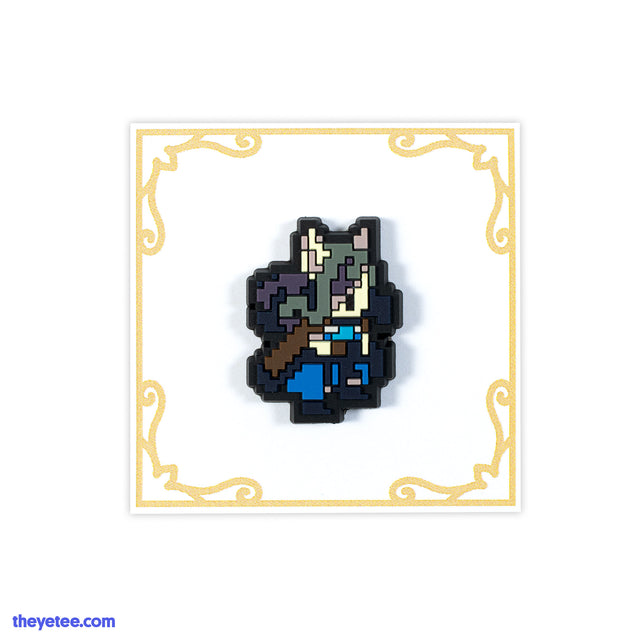 "1.25"" rubber PVC pin of Sigrid in an 8-bit style - Sigrid"