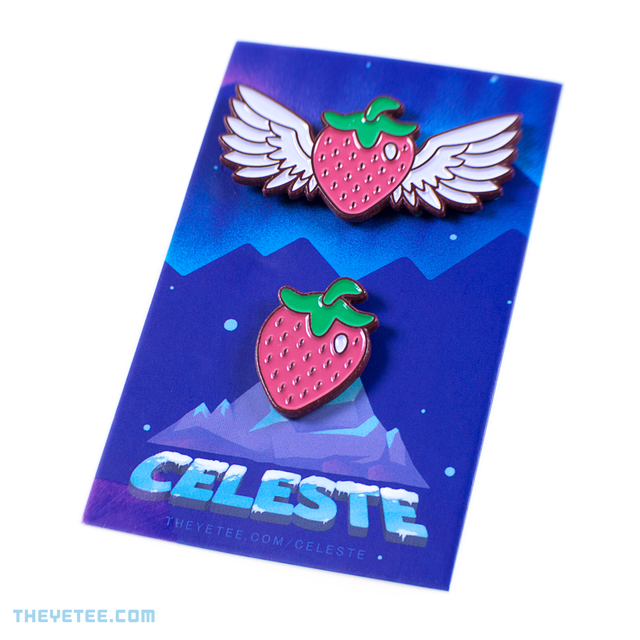 Strawberries Pin Set