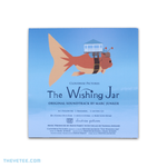 Cloudrise Pictures logo is a giant floating goldfish with a house on its back. The wishing jar logo rests above the track list. - The Wishing Jar Soundtrack