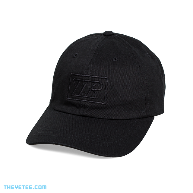 Black baseball hat has Yetee Records logo on front - Yetee Records Cap
