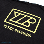 Yetee Records Back Print - Yellow - Yetee Records Back Print - Yellow