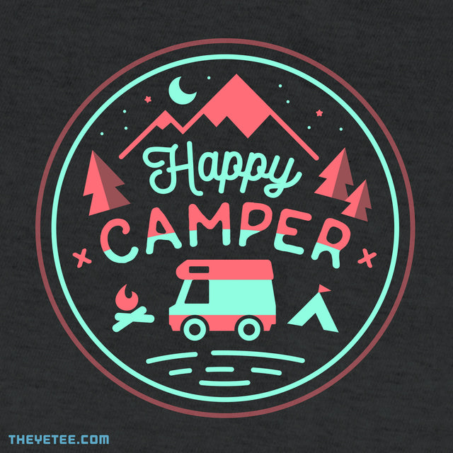 Happy Camper - Dark Gray Heather
