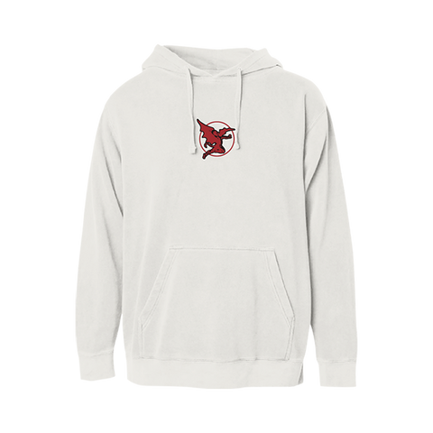 Red Stripe Graphic Hoodie