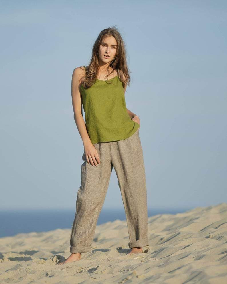 Linen Top with String - Maven Flair