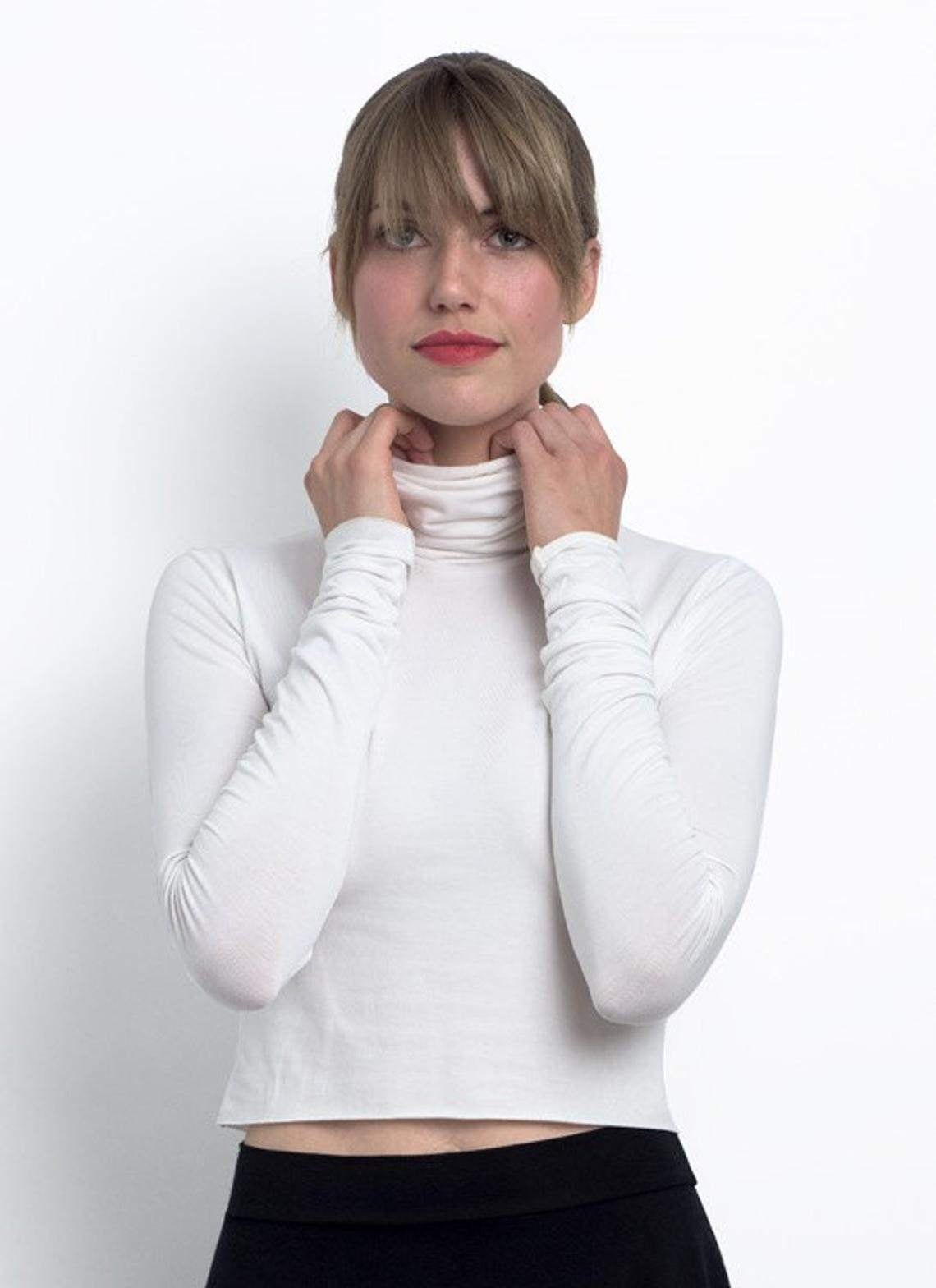 Jane Cropped Long Sleeve Turtle Neck