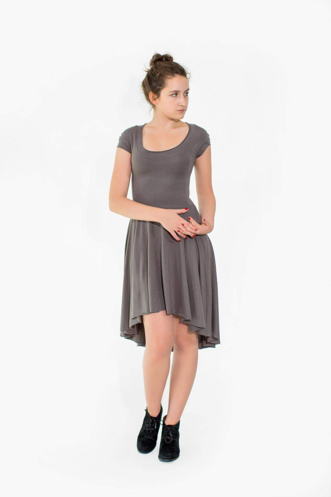 The Florence Hem Bamboo and Cotton Jersey Dress - Maven Flair