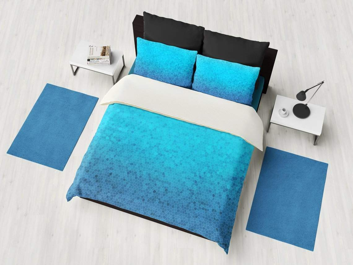Sea Glass Beach DesignBlue Duvet Comforter