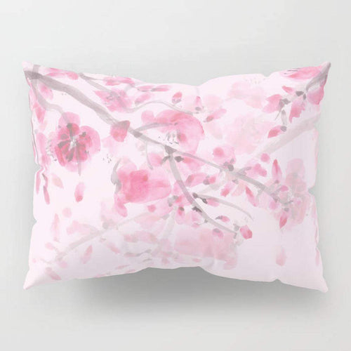 Pink Cherry Blossom Pillow Case