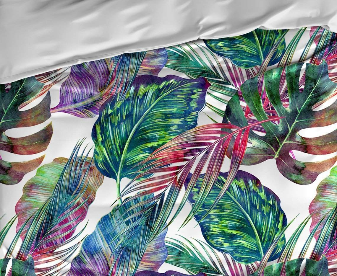 Rainbow Tropical Pattern Bedding