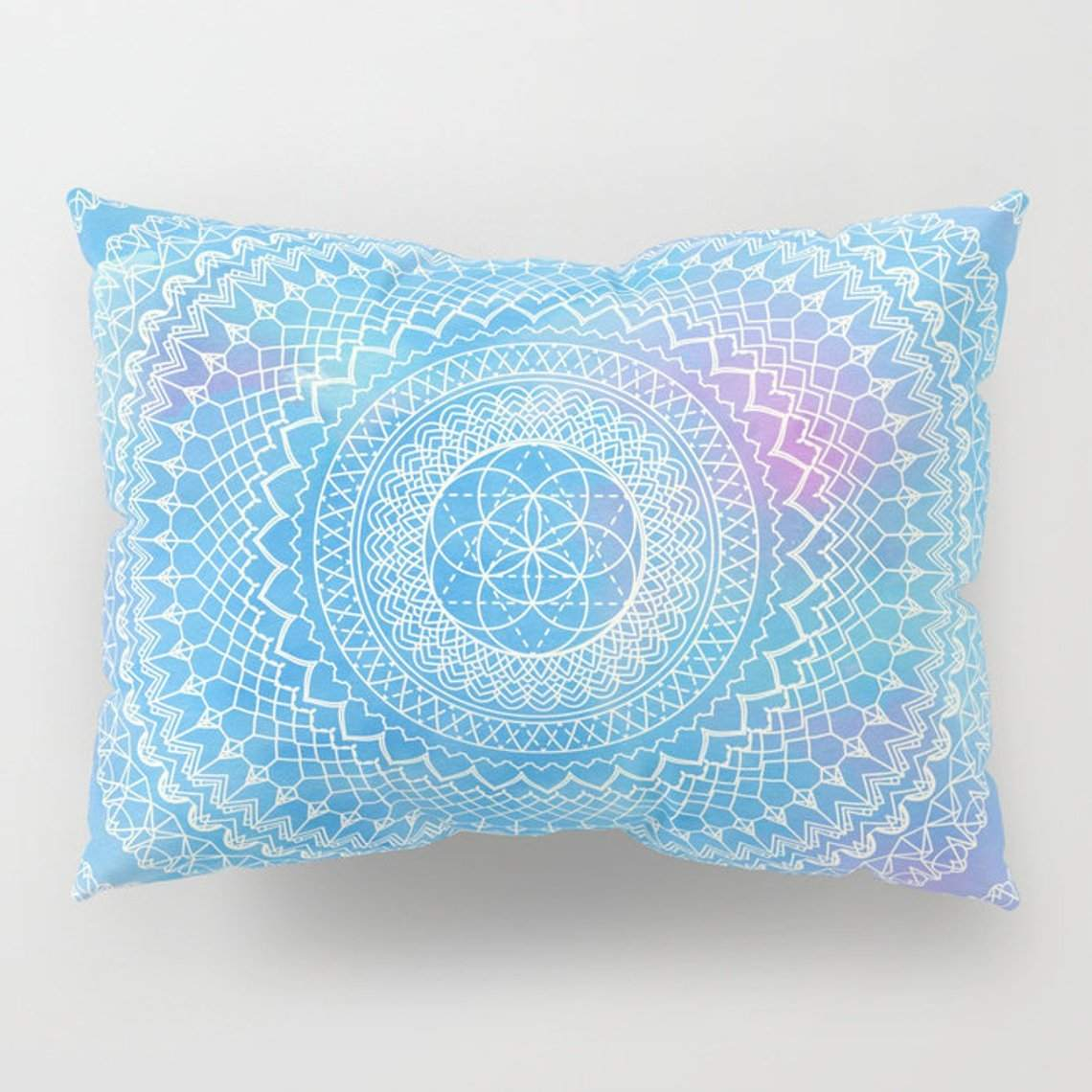Watercolor Mandala Pillow Case