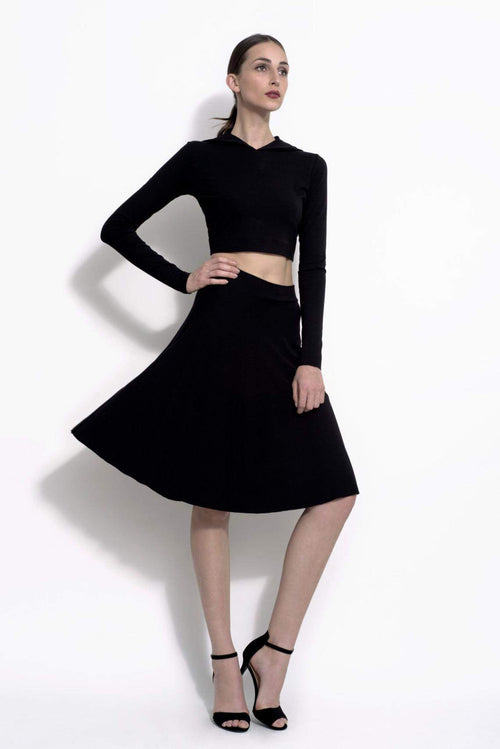 A-Line Stretch Bamboo Jersey Skirt