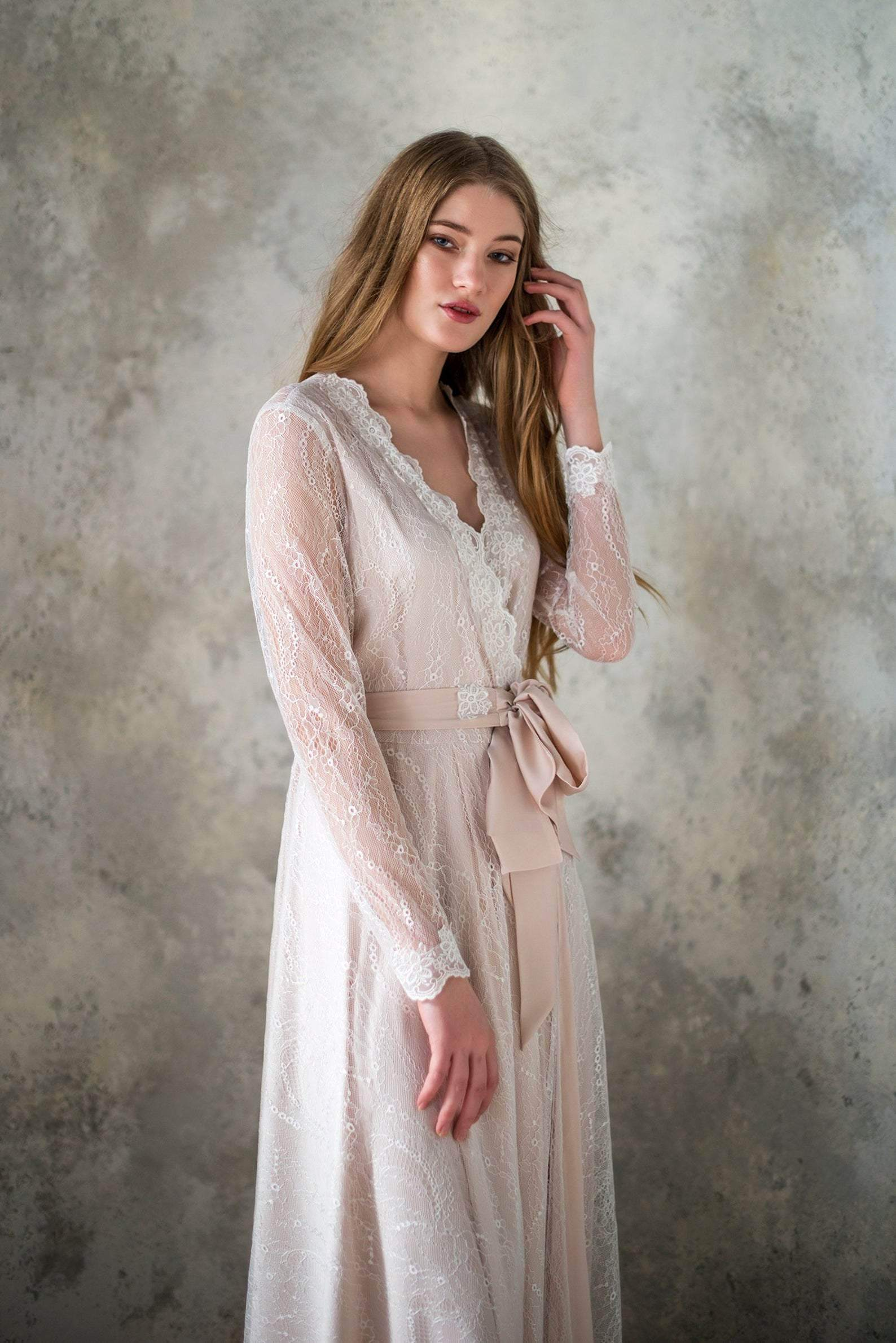 Lace Bridal Robe - Maven Flair