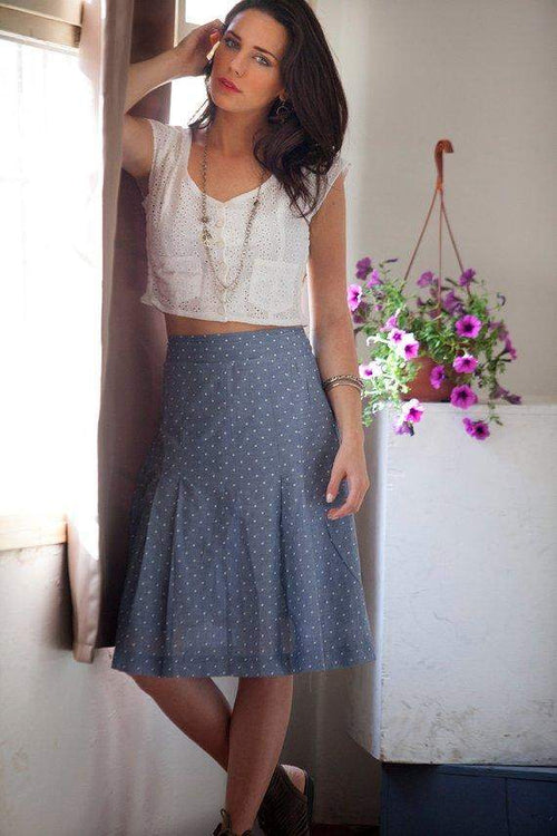 Retro High-Waist Polka Dots Skirt