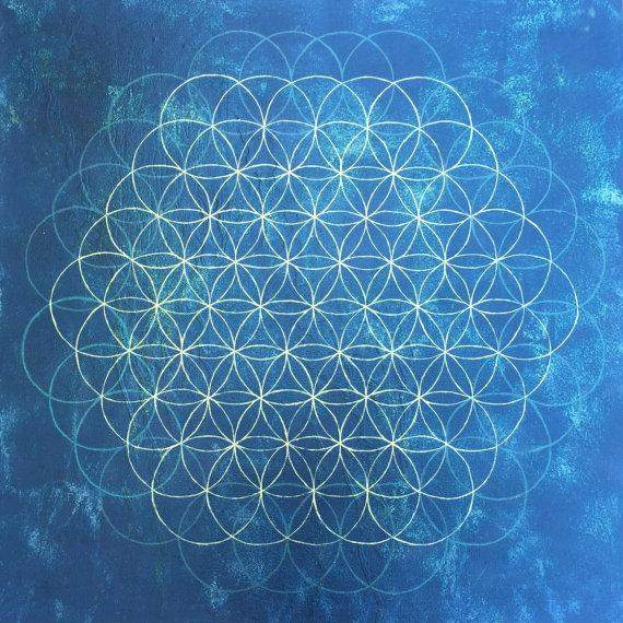 Ocean Flower of Life: Reconnect to our Divine Nature- Fine Art Print
