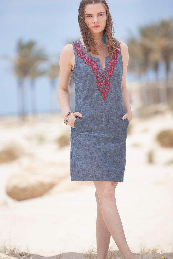 Short Denim Summer Dress