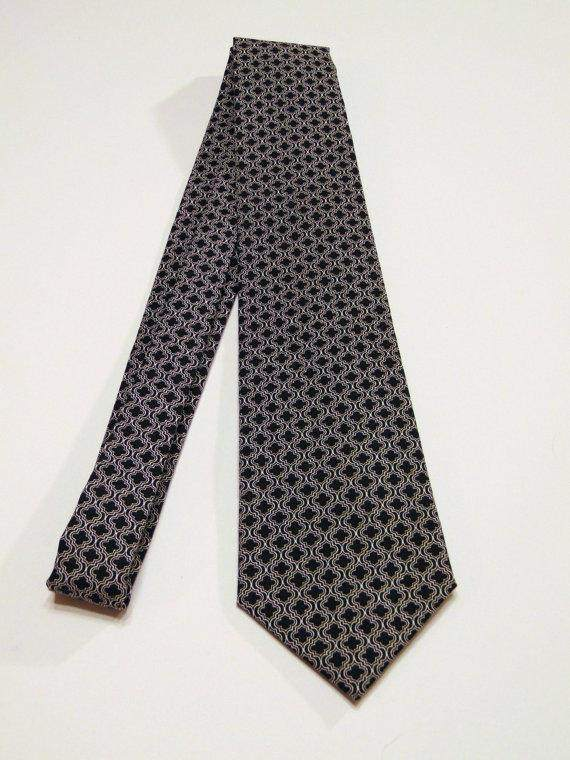 Black White Necktie