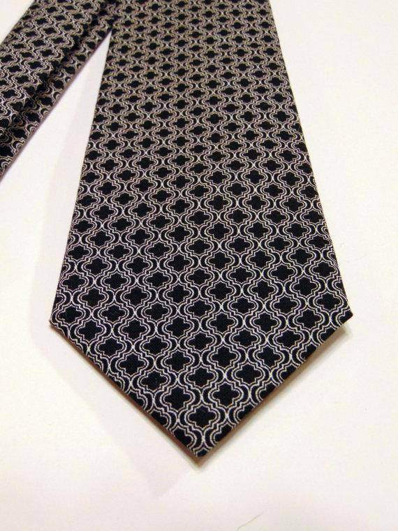 Black White Necktie - Maven Flair