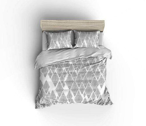 Geometric Tribal Diamond Pattern Bedding